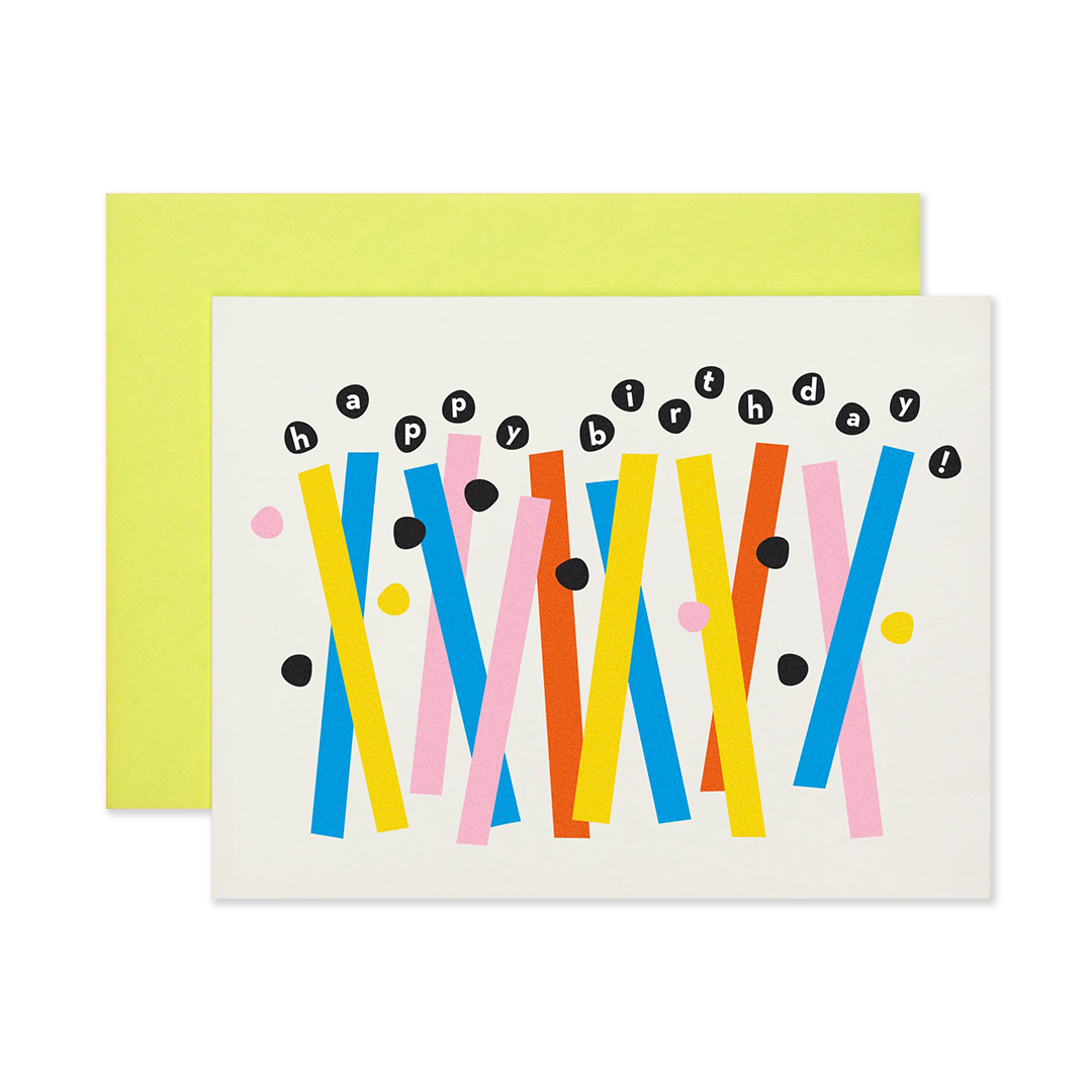 Birthday Abstract Candles