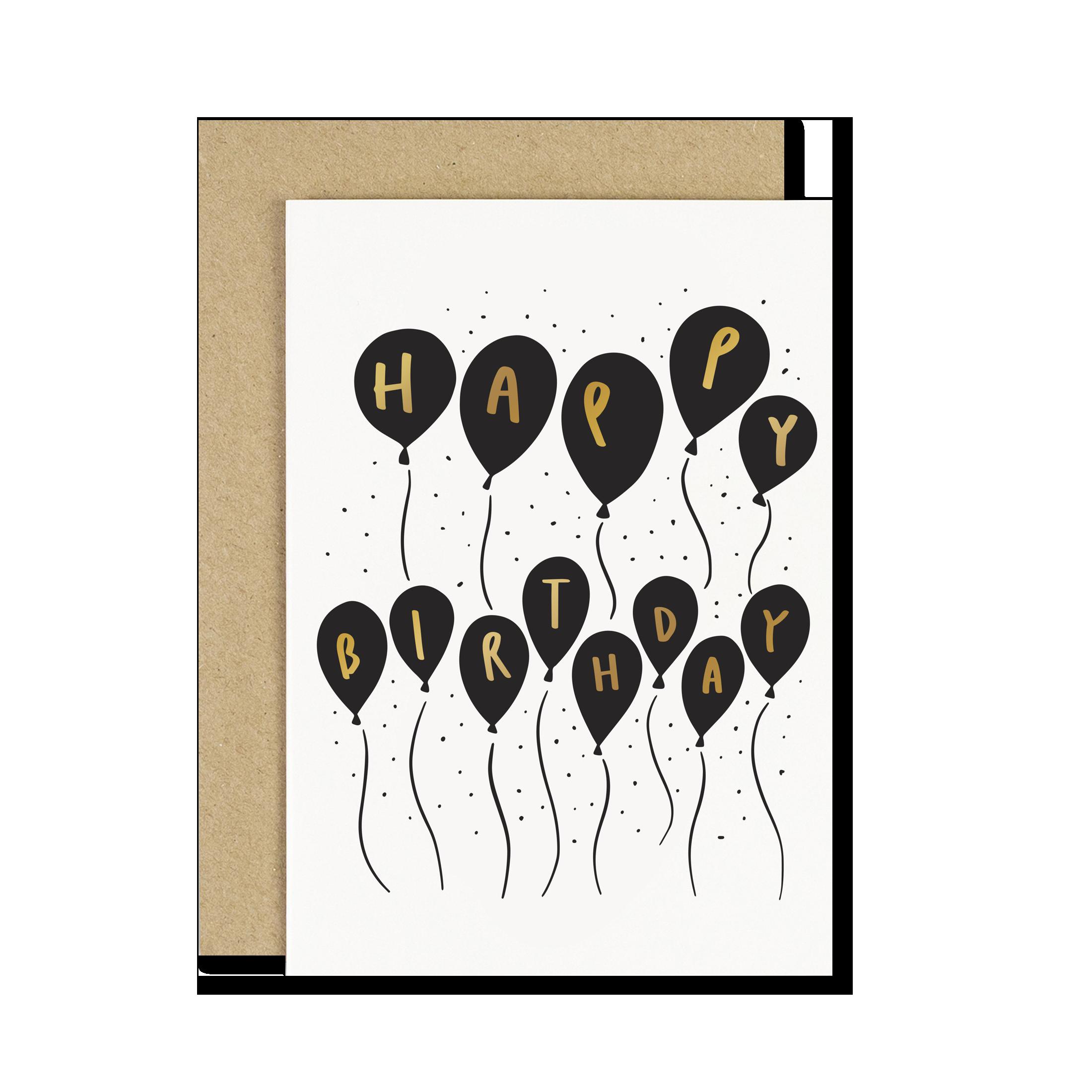 Happy Birthday Small Balloons